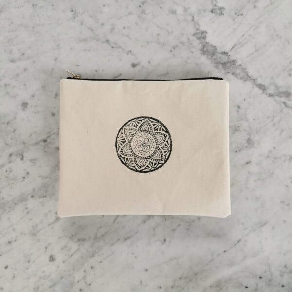 kosmetyczka mała bawełniana mandala