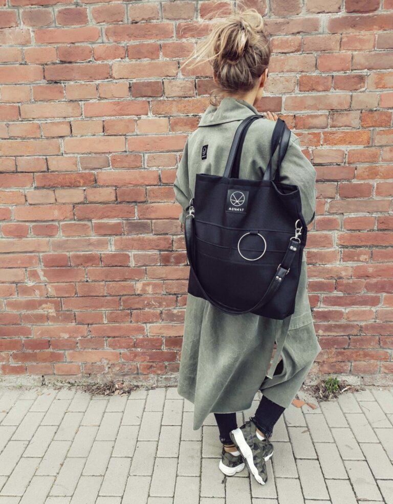 czarna torba miejska