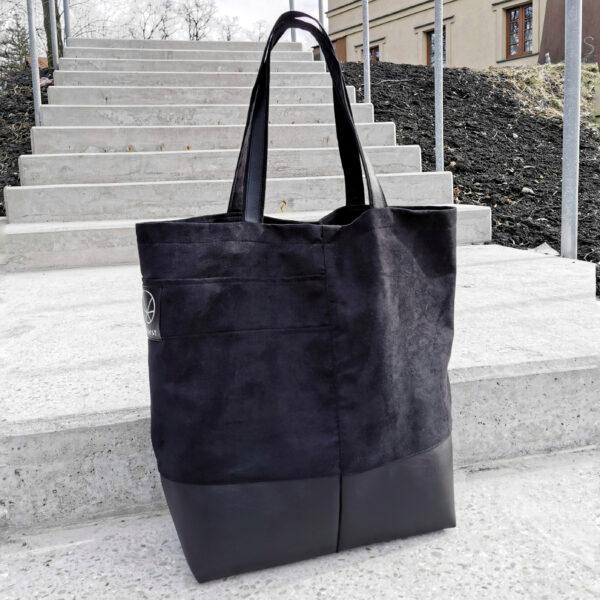 Duża torba shopper eko zamsz