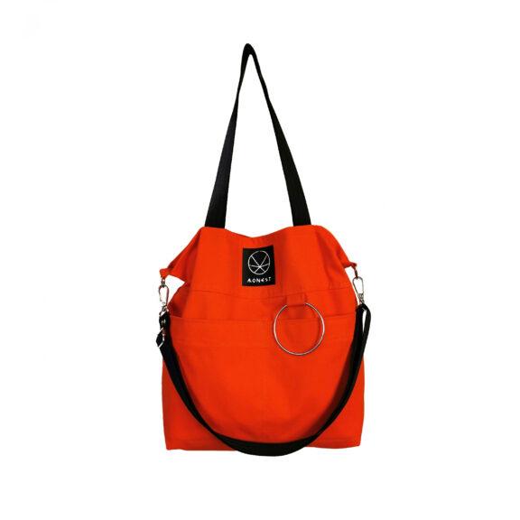 pomarańczowa torba bawełniana